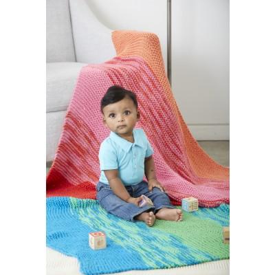 Knitting Patterns Galore Garter Stripes Baby Blanket