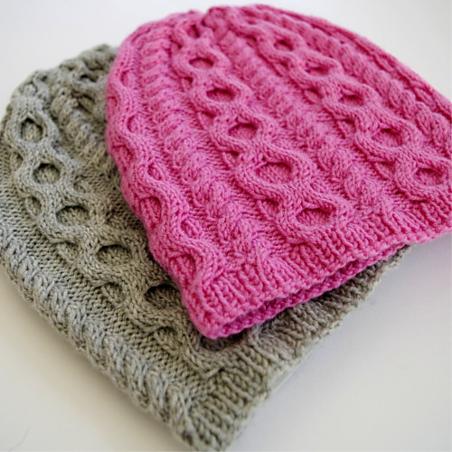 Knitting Patterns Galore Cabled Baby Hat