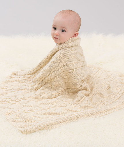 Knitting Patterns Galore Baby : Knitting Patterns Galore - Baby Loves Cables Throw