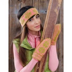 Fair Isle Ski Band and Mittens