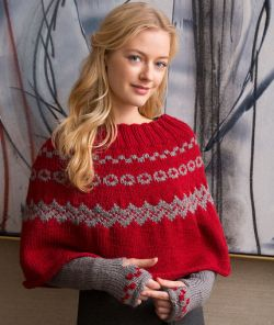 Fair Isle Poncho & Arm Warmers