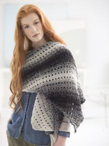 Neutral Slant Shawl