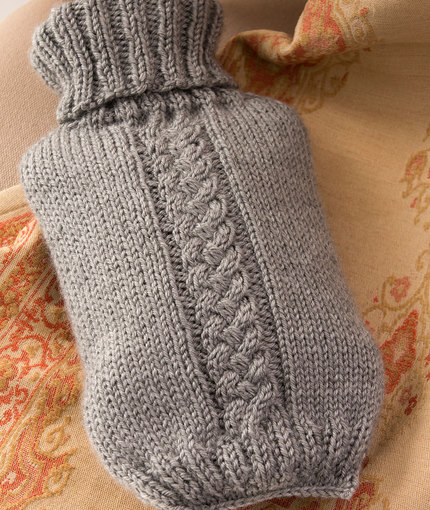 Knitting Patterns Galore Hot Water Bottle Cover