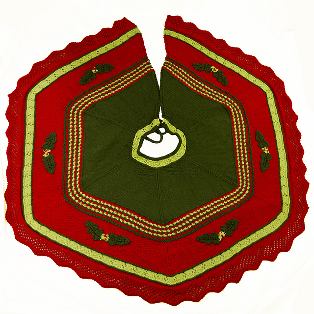 Knitting Patterns Galore Christmas Tree Skirt