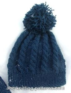 Child's Cable Hat