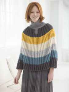 Flattering Striped Poncho