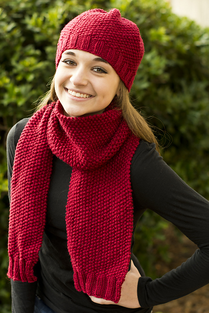 Knitting Patterns Galore Hats : Knitting Patterns Galore - Simplicity Hat and Scarf