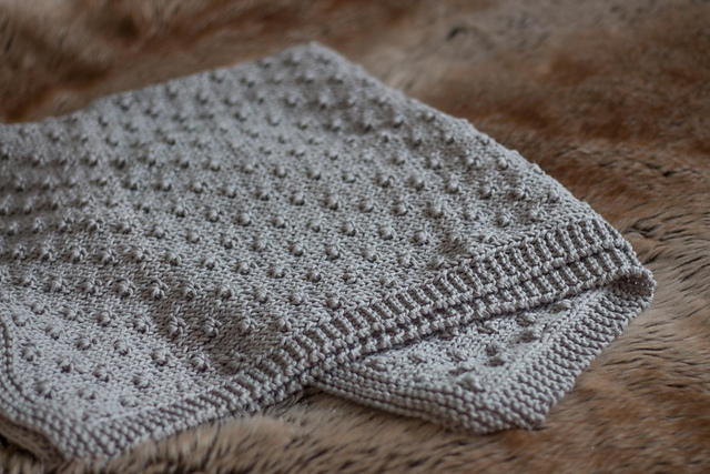 Knitting Patterns Galore - Knot Stitch Baby Blanket
