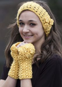 Sparkling Headband and Mitts