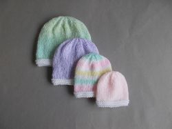 Knitting Patterns Galore Tiny Topaz Premature Baby Hats
