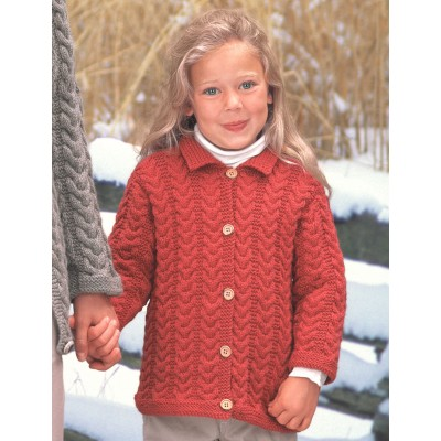 Knitting Patterns Galore Girls Cuddly Cables Cardigan