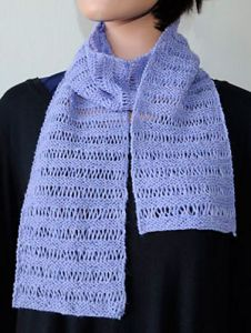 Ladders of Lavender Scarf