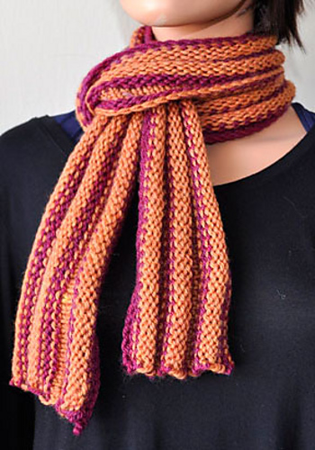 Ripple Scarf Knitting Pattern : Knitting Patterns Galore - Ripple Rows Scarf