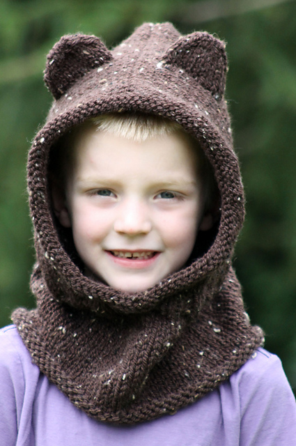 Knitting Patterns Galore Baby Bear Hooded Cowl
