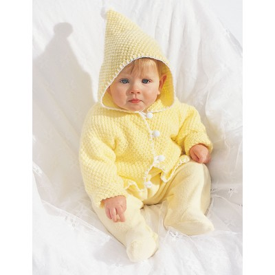 Knitting Patterns Galore Hooded Baby Jacket