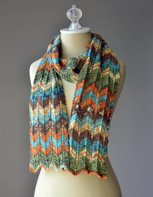Knitting Patterns Galore - Happy Magic Scarf