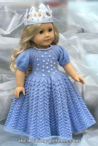 American Girl Doll Snow Princess Dress