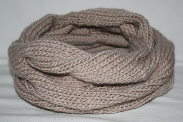 Knitting Patterns Galore - Burberry Inspired Cowl Neck Scarf