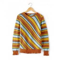 Diagonal Stripes Sweater