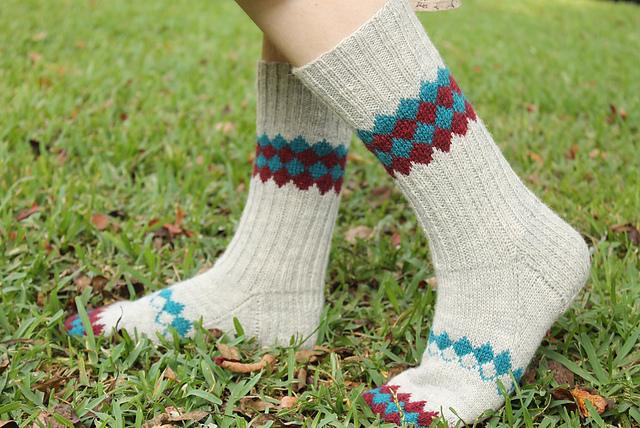Knitting Patterns Galore - Interlock Socks