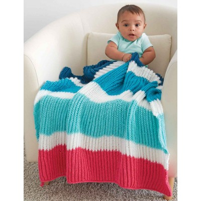 Knitting Patterns Galore Bold Stripes Baby Blanket
