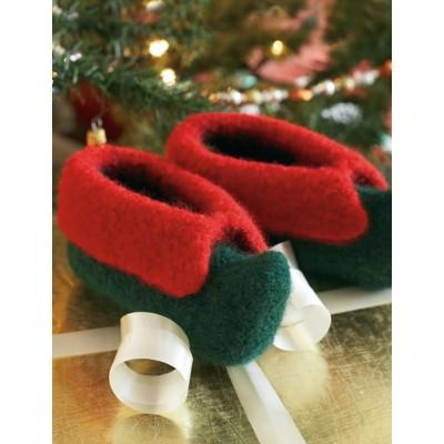 Knitting Patterns Galore Kids Elf Slippers