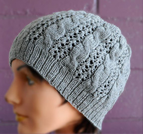 d923074c400 Knitting Patterns Galore - Cables  n Lace Hat