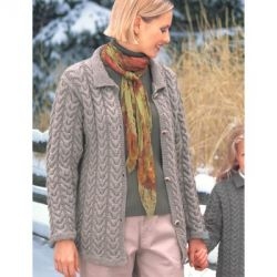 Ladies Cuddly Cables Cardigan