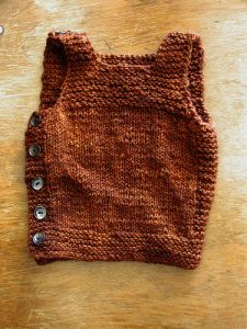 Pebble (Henry's Manly Cobblestone-Inspired Baby Vest)