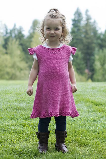 Knitting Patterns Galore Sweet Little Girl Ruffle Tunic