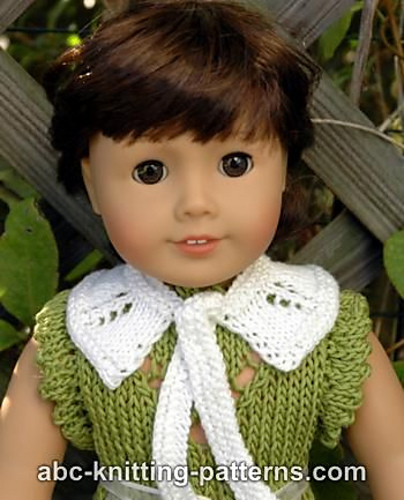 Knitting Patterns Galore American Girl Doll Knit Peter Pan Collar