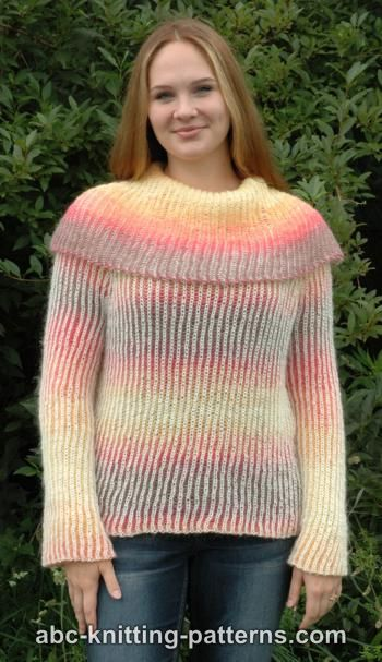 Knitting Patterns Galore Reversible Brioche Sweater
