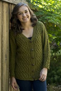 Graceful Cable Cardigan