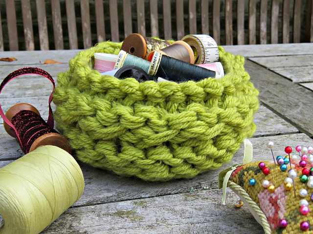 Knitting Patterns Galore Chunky Basket
