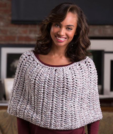 Knitting Patterns Galore Honeycomb Poncho
