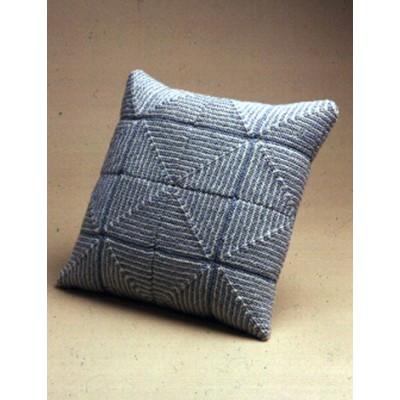 Knitting Patterns Galore Large Pastel Squares Pillow