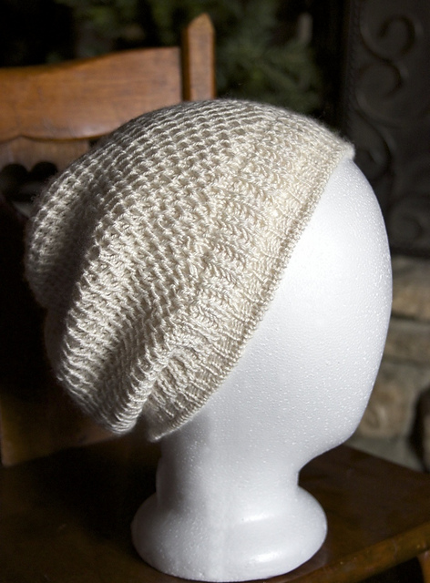 Knitting Patterns Galore Honeycomb Brioche Beanie