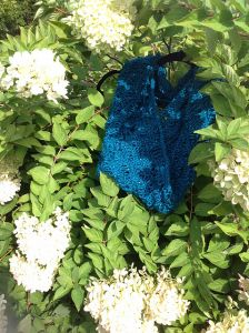 Turquoise Drop Stitch Cowl