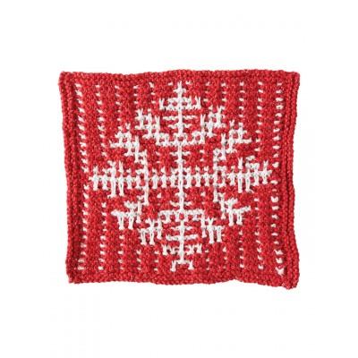 Knitting Patterns Galore Mosaic Snowflake Dishcloth