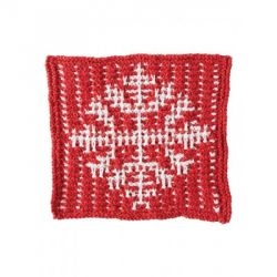 Mosaic Snowflake Dishcloth