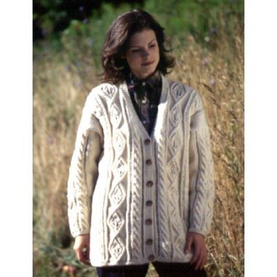 3a2afbb8342231 Leaf Panel Cardigan Free Knitting Pattern. Leaf Panel Cardigan · Click to  Enlarge