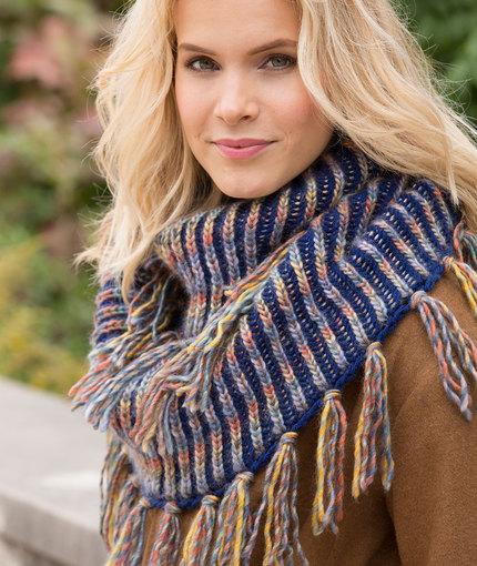Knitting Patterns Galore Horizon Brioche Cowl