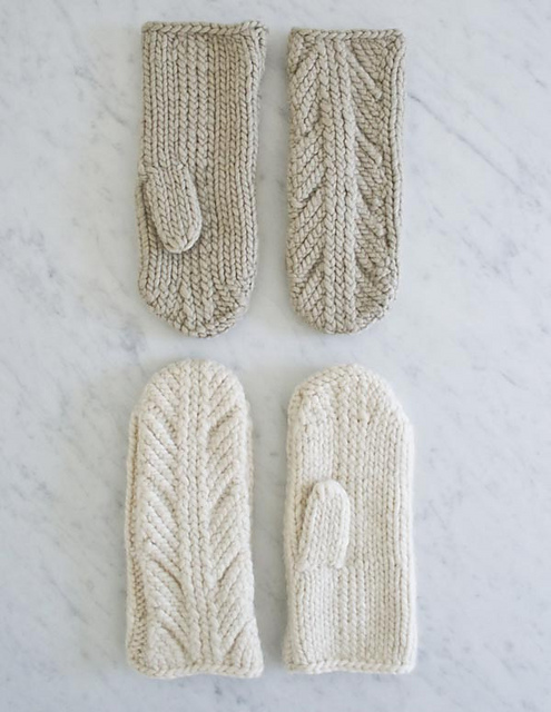 Knitting Patterns Galore - Ancient Stitch Mittens