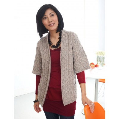 Knitting Patterns Galore Long Cardigan With Pockets