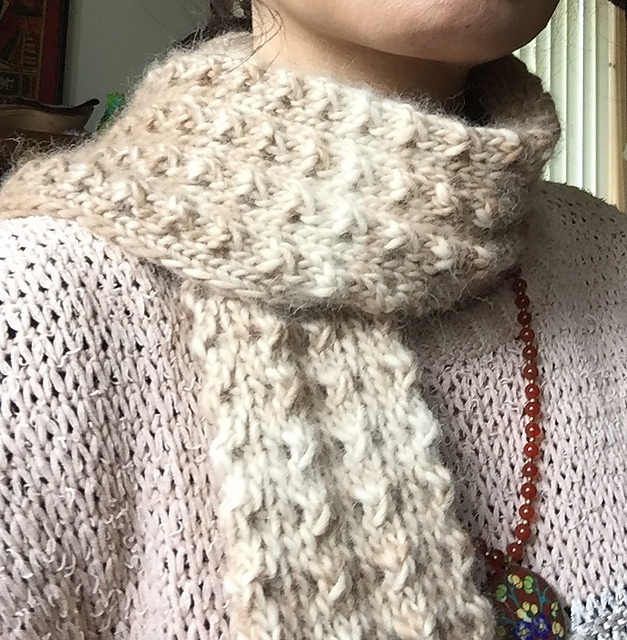Knitting Patterns Galore Easy Winter Column Lace Scarf