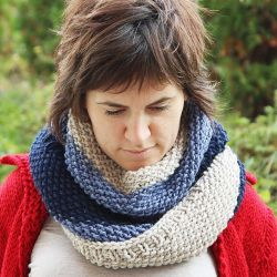 Infinity Cowl in Three Colors