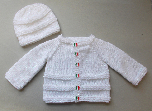 Free Babies Knitting Patterns For Cardigans : Knitting Patterns Galore - Roma Baby Cardigan and Hat