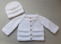 Roma Baby Cardigan and Hat