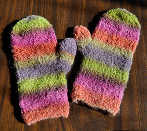 Knitting Patterns Galore Inca Clouds Cozy Mittens