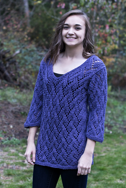 Knitting Patterns Galore Arcadian Lace Pullover